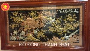 treo tranh vinh hoa phú quý dát vàng 9999 đảm bảo đẹp